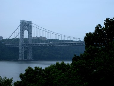 Gorgeous view of the GW Bridge by where I live.